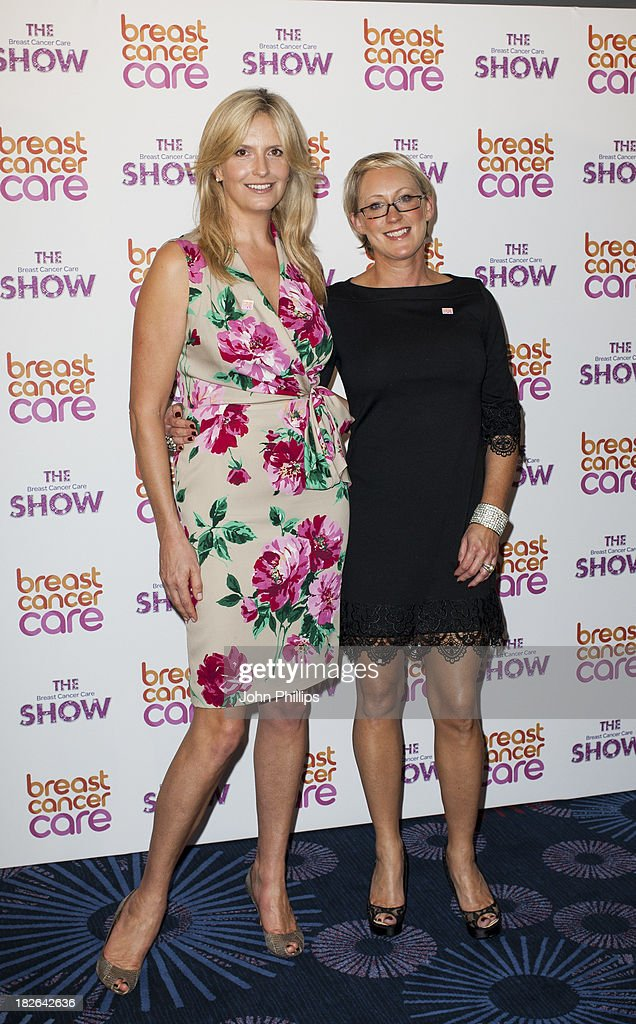 Penny Lancaster (L) attends the photocall ahead of the Breast Cancer Care Fashion Show at Grosvenor House, on October 2, 2013 in London, England.