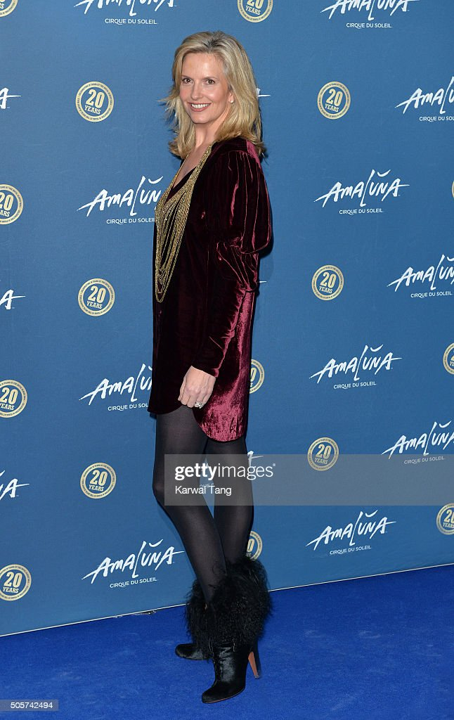 Penny Lancaster attends the Red Carpet arrivals for Cirque Du Soleil Amaluna at Royal Albert Hall on January 19, 2016 in London, England.