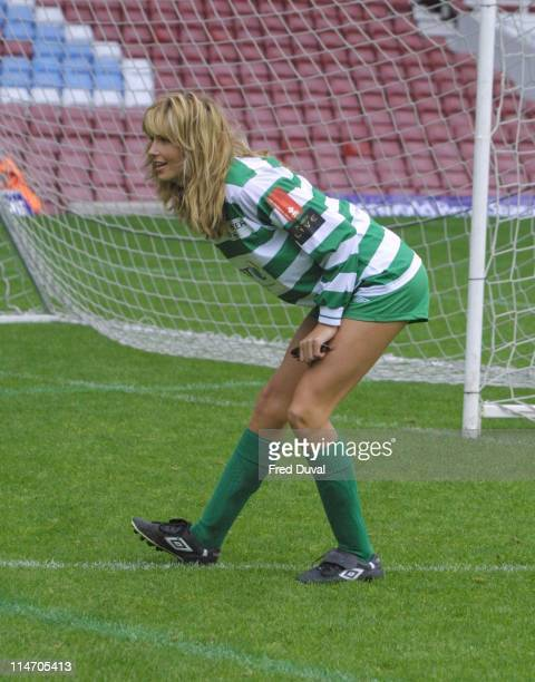 Penny Lancaster during Music Industry's Soccer Six in Upton Park at Upton Park in London London United Kingdom