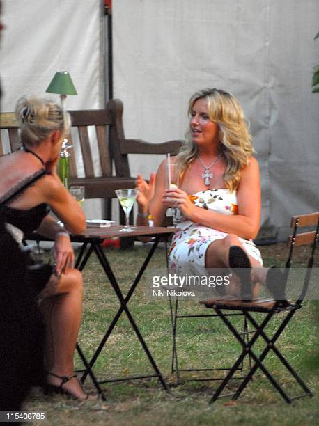 Penny Lancaster during Prince's Trust Summer Ball Outside Arrivals July 6 2006 at Berkeley Square in London Great Britain