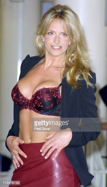 Penny Lancaster during Ultimo Underwear Photocall at Debenhams in London Great Britain