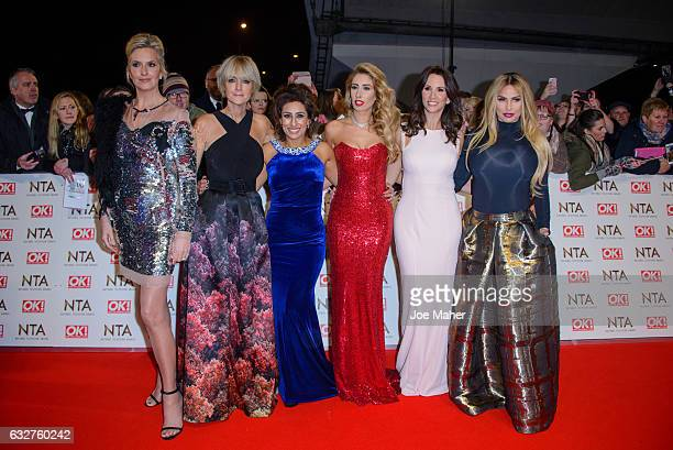 Penny Lancaster Jane Moore Saira Khan Stacey Solomon Andrea McLean and Katie Price hosts of 'Loose Women' attend the National Television Awards on...