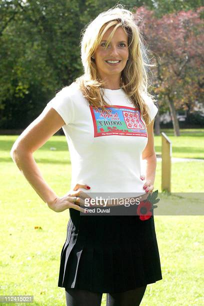 Penny Lancaster launched The Royal British Legion Poppy Appeal's 1 instant win scratch cards promotion The photocall took place at the Imperial War...