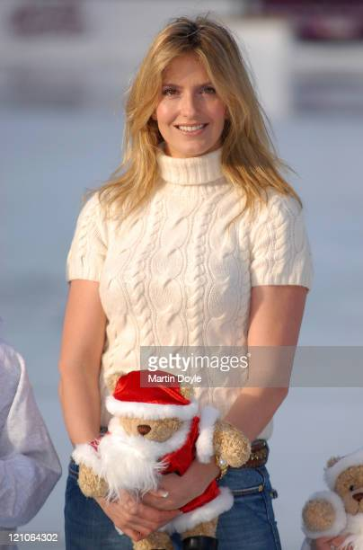 Penny Lancaster officially opens Winter Wonderland ice rink in Hyde Park on November 29 2007 in London England