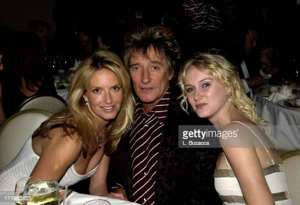 Penny Lancaster Rod Stewart Kimberly Stewart during The 44th Annual GRAMMY Awards Clive Davis PreGRAMMY Party at Beverly Hills Hotel in Beverly Hills...