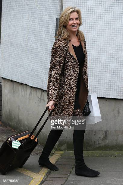 Penny Lancaster seen at the ITV Studios after appearing on Loose Women on January 26 2017 in London England