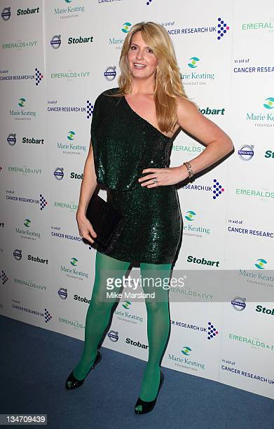 Penny Lancaster Stewart attends the Emeralds Ivy Ball in aid of Cancer Research UK and the Marie Keating Foundation at Supernova on December 3 2011...