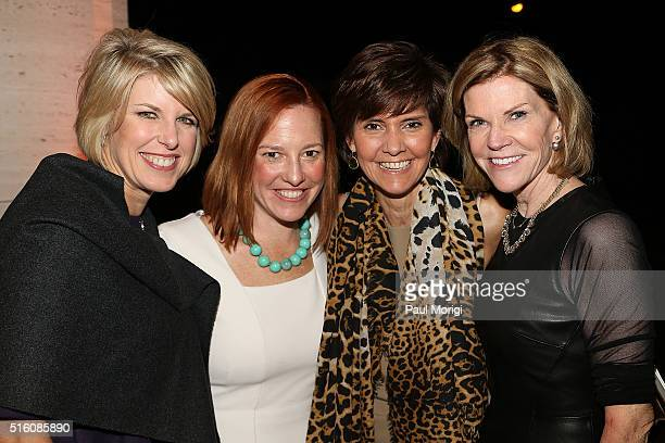 Penny Lee, Jen Psaki, Capricia Marshall, and Susan Brophy attend the ELLE and Hugo Boss Women in Washington Power List Dinner at the Kreeger Museum...