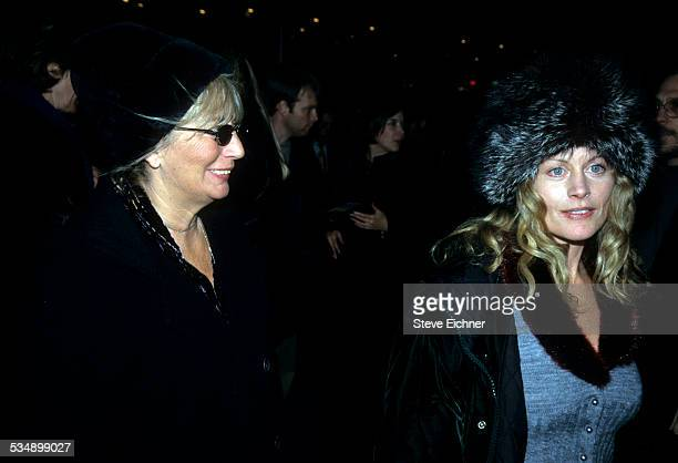 Penny Marshall and Beverly D'Angelo at premiere of 'I'm Still Here Damn It' New York November 5 1998
