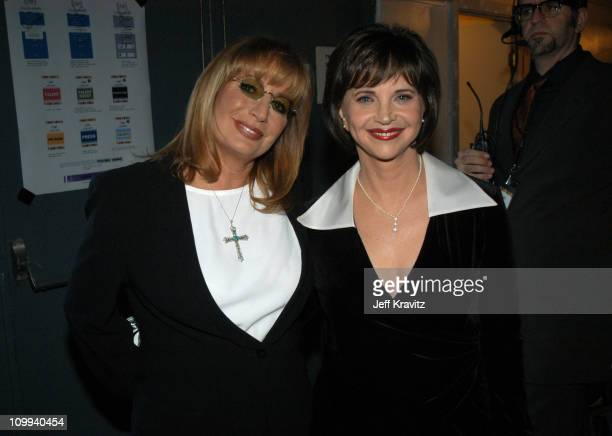 Penny Marshall and Cindy Williams during The TV Land Awards Backstage at Hollywood Palladium in Hollywood CA United States