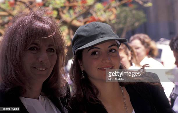 Penny Marshall and daughter during 1991 Women In Film Awards June 7 1991 at Century Plaza Hotel in Century City California United States