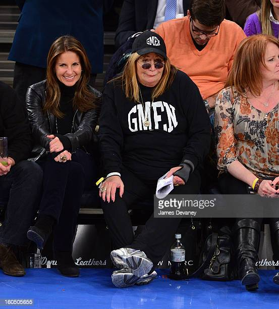 Penny Marshall attends the Milwaukee Bucks vs New York Knicks game at Madison Square Garden on February 1 2013 in New York City