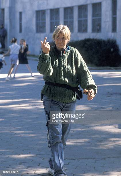 Penny Marshall during On the Set of Awakenings October 5 1989 at The Bronx in New York City New York United States