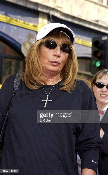 Penny Marshall during The Lizzie McGuire Movie Premiere at The El Capitan Theater in Hollywood California United States
