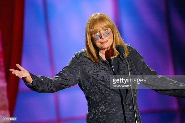 Penny Marshall presents Rosie O'Donnell the Lucy Award at Women In Film's Crystal and Lucy Awards at the Century Plaza Hotel Los Angeles Ca Friday...