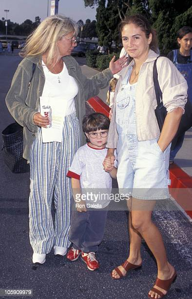 Penny Marshall with grandson and daughter during Variety Club Gala Benefiting Ringling Brothers and Barnum Bailey Circus at Great Western Forum in...