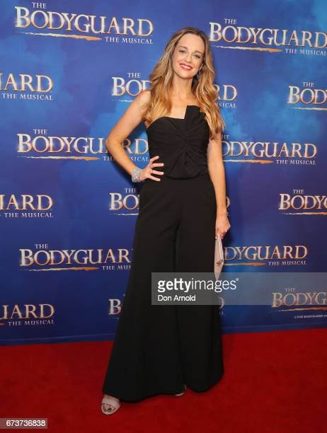 Penny McNamee arrives ahead of opening night of The Bodyguard The Musical at Lyric Theatre Star City on April 27 2017 in Sydney Australia