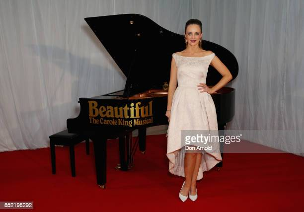 Penny McNamee arrives ahead of premiere of Beautiful The Carole King Musical at Lyric Theatre Star City on September 23 2017 in Sydney Australia