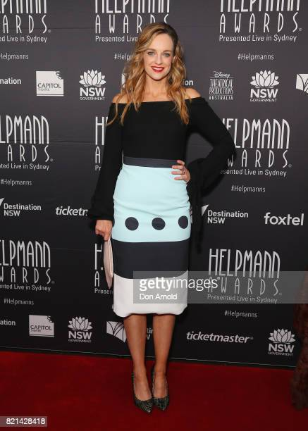 Penny McNamee arrives ahead of the 17th Annual Helpmann Awards at Lyric Theatre Star City on July 24 2017 in Sydney Australia