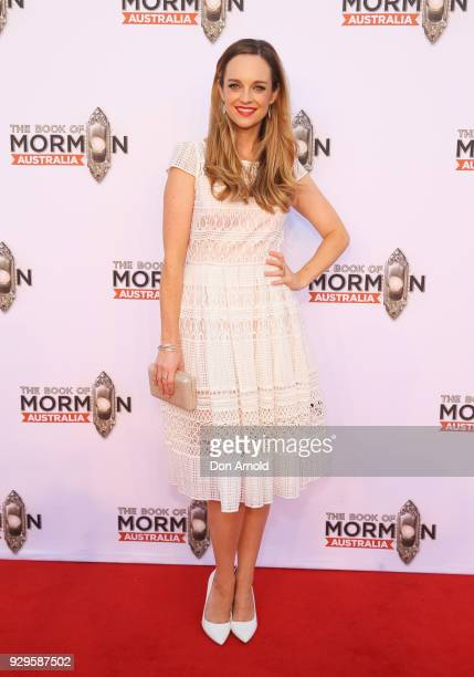 Penny McNamee arrives ahead of The Book of Mormon opening night at the Lyric Theatre Star City on March 9 2018 in Sydney Australia