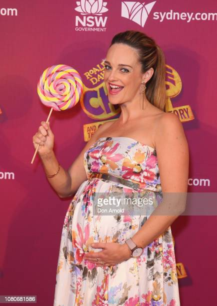 Penny McNamee arrives at opening night of Charlie And The Chocolate Factory at Capitol Theatre on January 11 2019 in Sydney Australia