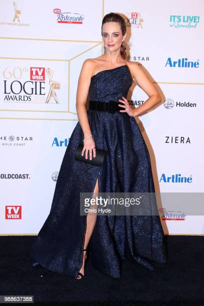 Penny McNamee arrives at the 60th Annual Logie Awards at The Star Gold Coast on July 1 2018 in Gold Coast Australia