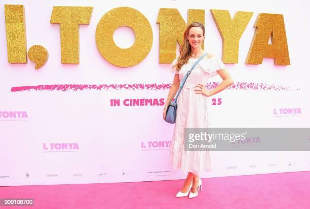 Penny McNamee arrives at the Australian Premiere of 'I Tonya' on January 23 2018 in Sydney Australia