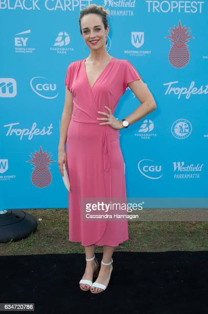 Penny McNamee arrives at Tropfest on February 11 2017 in Sydney Australia