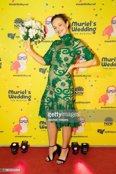 Penny McNamee attends opening night of Muriel's Wedding The Musical at Lyric Theatre Star City on July 04 2019 in Sydney Australia