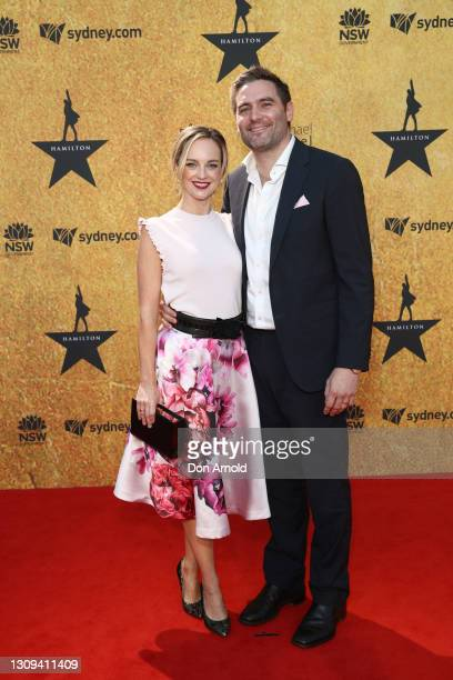 Penny McNamee attends the Australian premiere of Hamilton at Lyric Theatre, Star City on March 27, 2021 in Sydney, Australia.