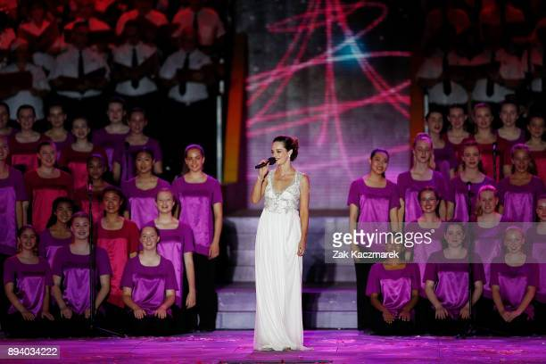 Penny McNamee performs during Woolworths Carols in the Domain on December 17 2017 in Sydney Australia Woolworths Carols in the Domain is Australia's...