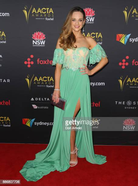 Penny McNamee poses during the 7th AACTA Awards at The Star on December 6 2017 in Sydney Australia