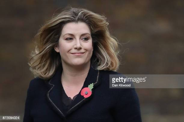 Penny Mordaunt arrives at Downing Street on November 9 2017 in London England Priti Patel Mp for Witham in Essex resigned yesterday as the Secretary...