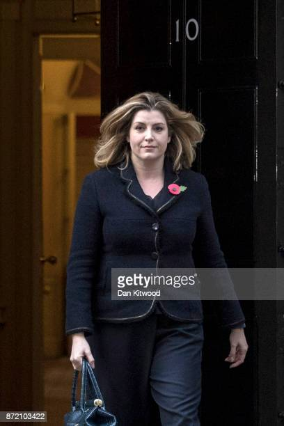 Penny Mordaunt leaves 10 Downing Street after being appointed the new Secretary of State For International Development on November 9 2017 in London...