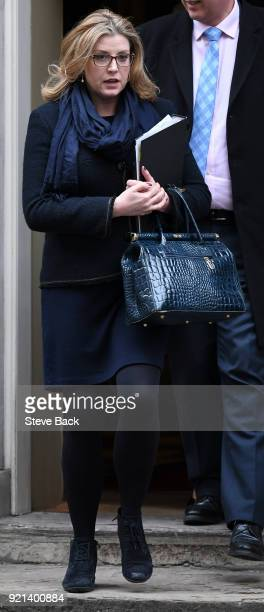 Penny Mordaunt MP Secretary of State for International Development leaving No10 after the Weekly Cabinet Meeting on February 20 2018 in London England