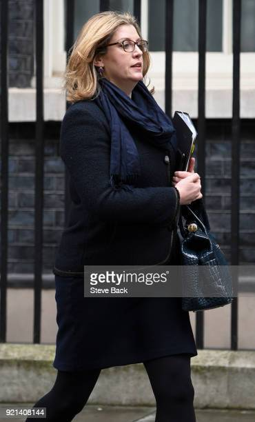 Penny Mordaunt MP Secretary of State for International Development leaves No10 Downing Street after todays weekly Cabinet meeting on February 20 2018...