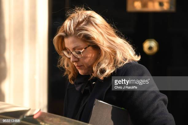 Penny Mordaunt Secretary of State for International Development attends the first cabinet meeting following the ReShuffle at Downing Street on May 1...