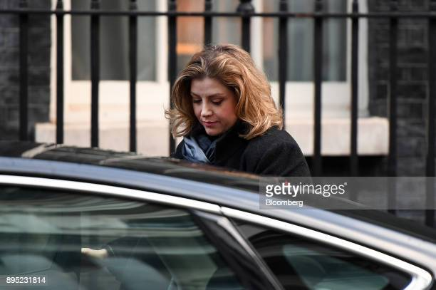 Penny Mordaunt UK international development secretary arrives for a cabinet meeting at number 10 Downing Street in London UK on Tuesday Dec 19 2017...