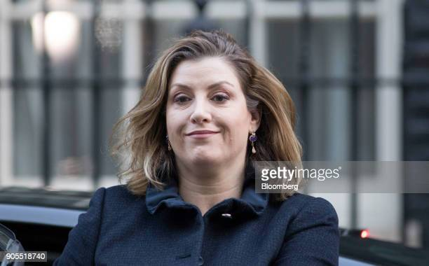 Penny Mordaunt UK international development secretary arrives for a weekly meeting of cabinet ministers at number 10 Downing Street in London UK on...