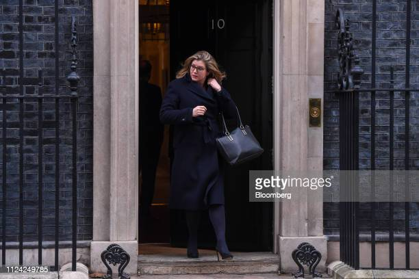 Penny Mordaunt UK international development secretary departs number 10 Downing Street following a weekly meeting of Cabinet minsters in London UK on...