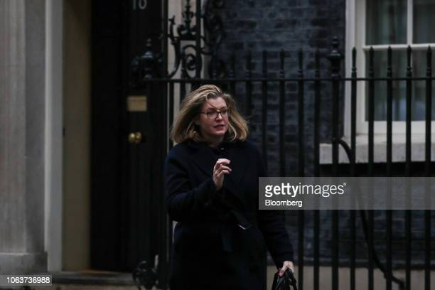 Penny Mordaunt UK international development secretary leaves after the weekly meeting of cabinet ministers at number 10 Downing Street in London UK...