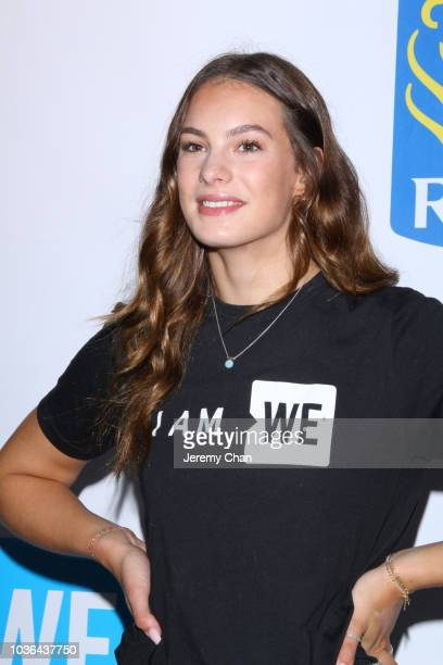 Penny Oleksiak arrives to WE Day Toronto and the WE Carpet at Scotiabank Arena on September 20 2018 in Toronto Canada