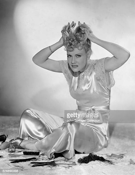 Penny Singleton Combing Hair with Hands