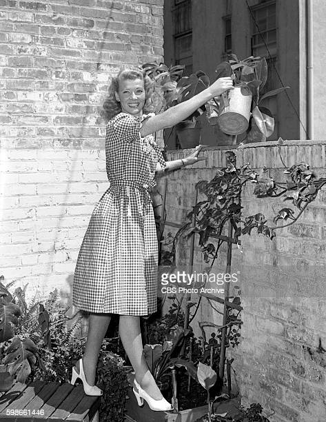 Penny Singleton star of the CBS Radio program Blondie She takes some time away from the microphone November 1 1944 New York NY