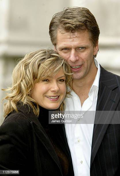 Penny Smith and Andrew Castle during Woman's Own 2005 Children of Courage Awards at Westminster Abbey in London Great Britain