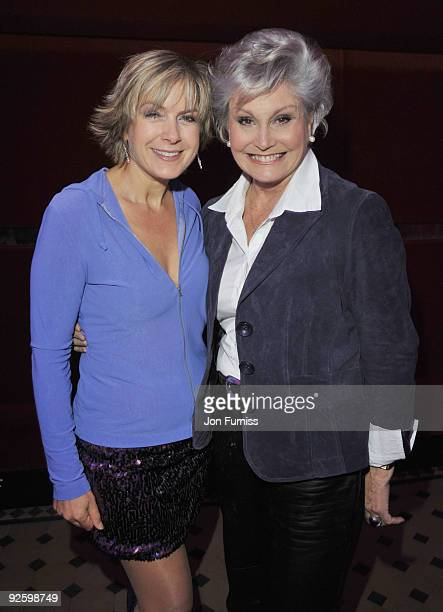 Penny Smith and Angela Rippon attend the PINKTOBER Women Of Rock Charity Concert at the Royal Albert Hall on November 1 2009 in London England