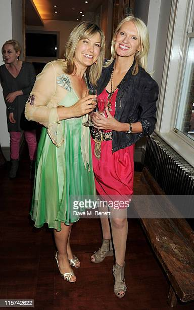 Penny Smith and Anneka Rice attend a launch party for Penny Smith's new book Summer Holiday at Century on June 9 2011 in London England