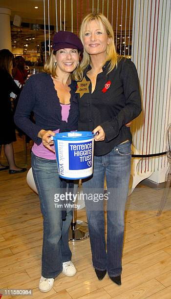 Penny Smith and Gaby Roslin during Celebrity Shopping Evening at Topshop in Aid of The Terrence Higgins Trust December 1 2005 at Topshop in London...