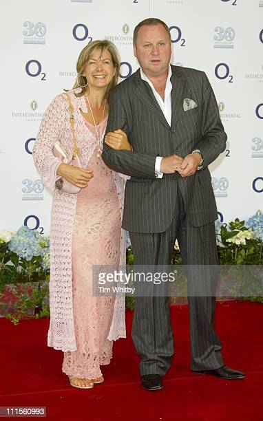 Penny Smith and Guest during 30th Anniversary NordoffRobbins O2 Silver Clef Luncheon at Intercontinental Hotel in London Great Britain