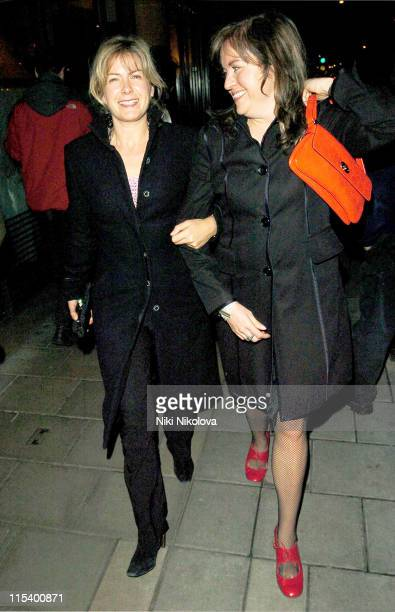 Penny Smith and guest during Celebrity Sightings at the Cipriani Restaurant in London January 20 2006 at Cipriani in London Great Britain